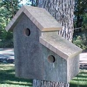BOULDER bargain birdhouse from The Birdhouse Depot.