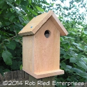 NEMAH assembled birdhouse from The Birdhouse Depot.