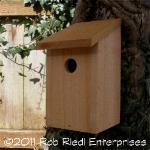 LEWIS assembled birdhouse from The Birdhouse Depot.